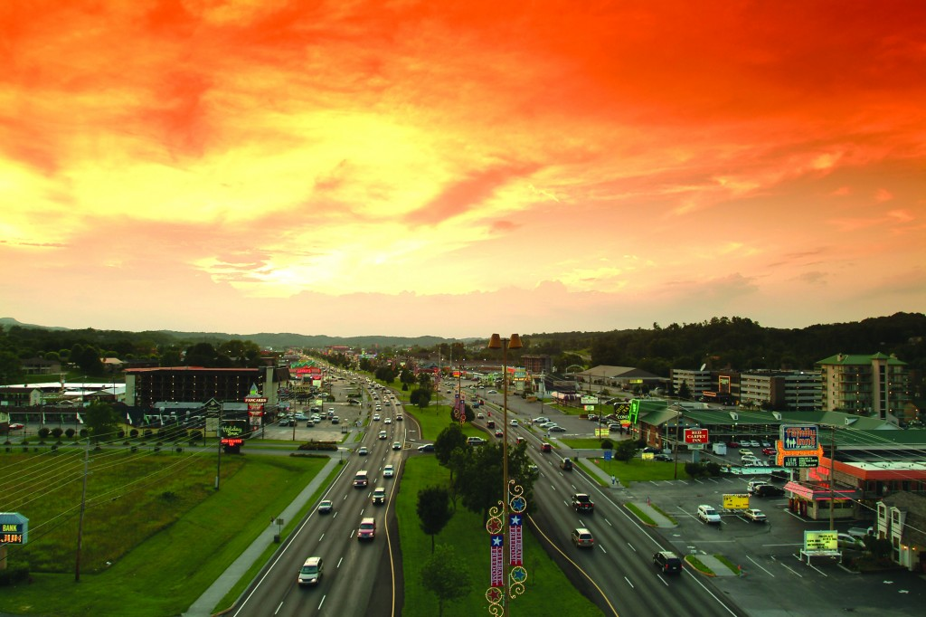 A1 Pigeon Forge Parkway sunset