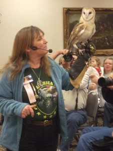 Owls always are a hit at Wilderness Wildlife Week programs.
