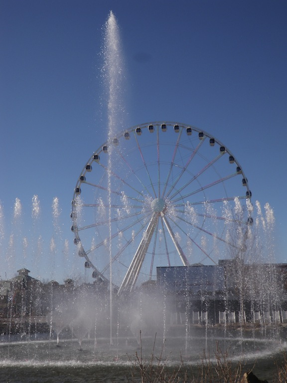 Island Show Fountains and Great Smoky Mountain Wheel