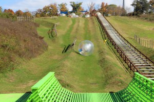 It's a fast roll in a DRYGO at Outdoor Gravity Park. (Photo: Jessica Ellison)