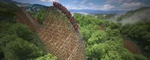 Lightning Rod, the world's fastest wooden roller coaster