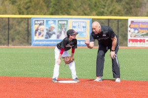 Cal Ripken Jr. with young player